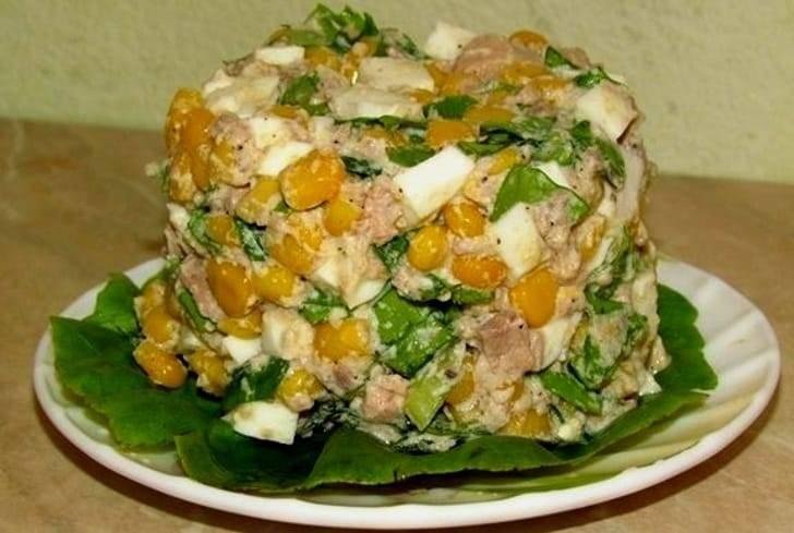 Салаты рецепты с простые и вкусные из колбасы