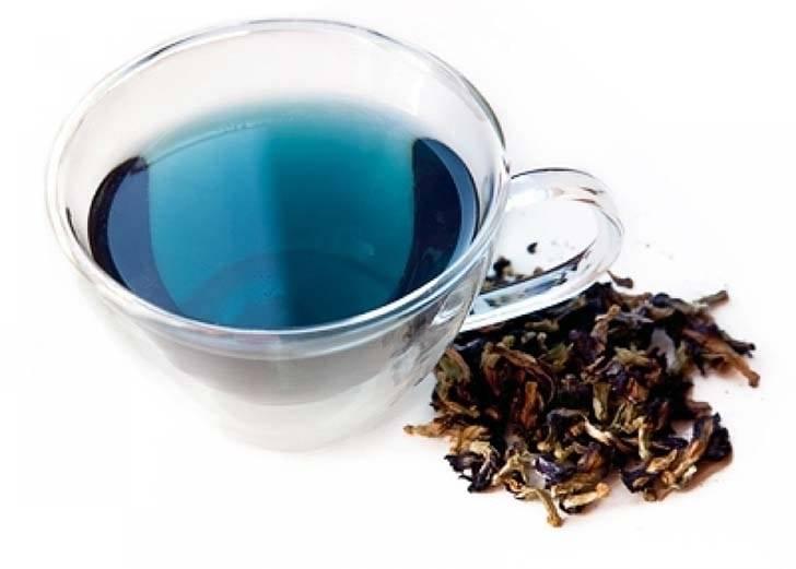 трава с синими цветочками для чая название